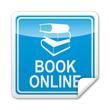 Pegatina cuadrada BOOK ONLINE con reborde