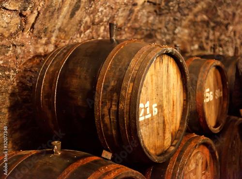 old wine cellar with barrels © Maksim Shebeko
