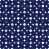 Pale and Dark Blue Damask Seamless Pattern