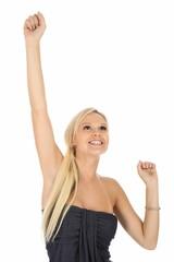 Gorgeous Cheering Blonde Girl