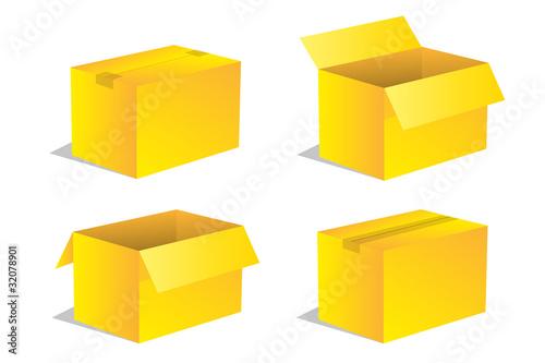 paket p ckchen lieferung box karton set 11 von sunt lizenzfreier vektor 32078901 auf. Black Bedroom Furniture Sets. Home Design Ideas