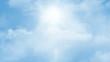 Loopable flight through sunny sky