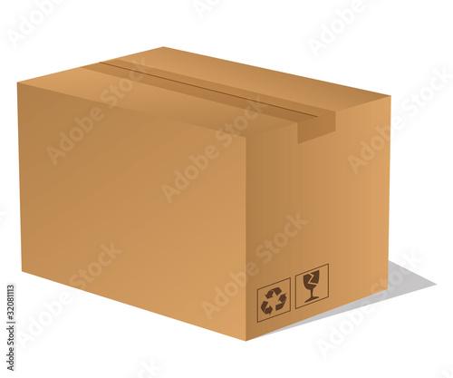 paket p ckchen lieferung box karton braun 3 von sunt lizenzfreier vektor 32081113 auf. Black Bedroom Furniture Sets. Home Design Ideas