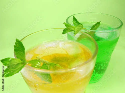green and yellow lemonade