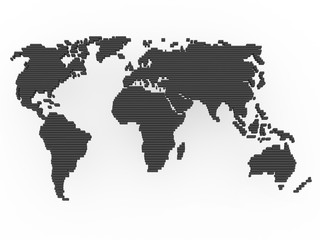 world map black grey