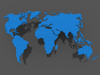 world map black blue