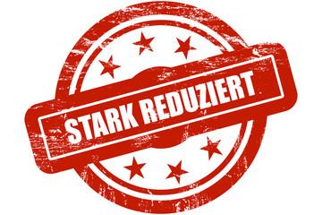 Sternen Stempel rot STARK REDUZIERT