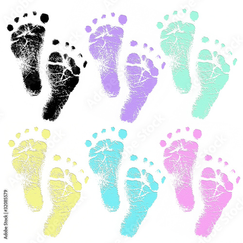baby foot prints