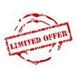 """Limited Offer"" ink stamp"