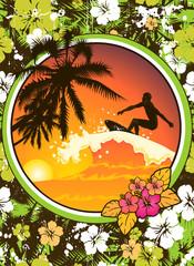 Surfista-tramonto