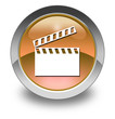 "Orange Glossy Pictogram ""Clapperboard"""