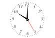 Reloj aislado sobre fondo blanco