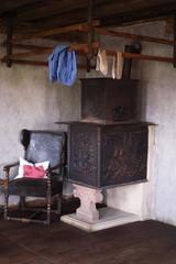 Wohnzimmer in einem alten Bauernhaus