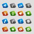 Cut Squares - medical icons