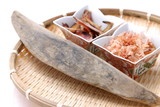 japanese grocery(soup stock material ) Dried Bonito and Flakes poster