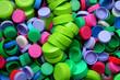 Bouchons verts empilés
