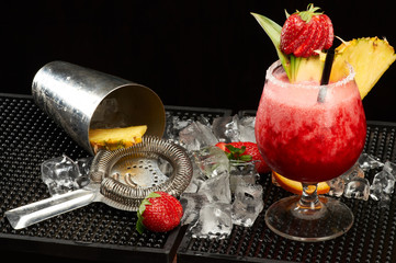Strawberry Daiquiri cocktails