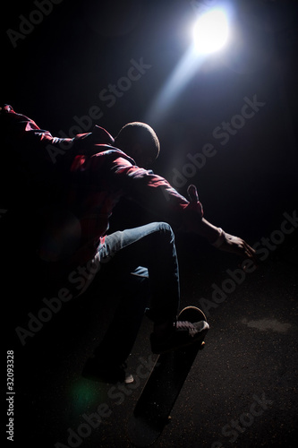 Cool Skateboarder Guy with Lens Flare