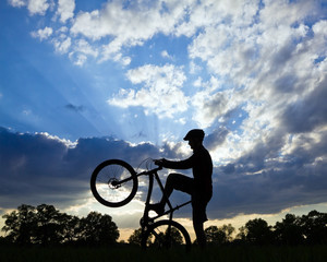 Cycling silhouette and success