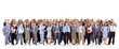 big group of business people. Isolated over white - 32098167