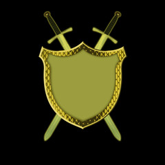 Shield with Swords!