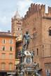 Leinwanddruck Bild - Fountain of Neptune. Bologna, Italy