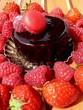 fraises et framboises