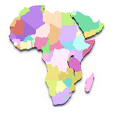 Africa color 3d map
