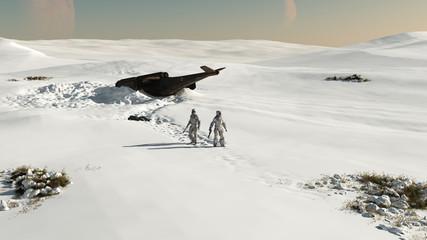Space Marines - crash landing in the snow