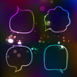 Abstract origami speech bubble vector backgroun