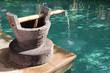 Fontaine en pierre et bambou - 32101122