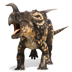 einiosaurus running away
