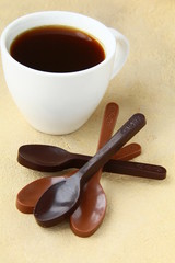 chocolate spoons black and milk chocolate stylish candy