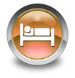 "Orange Glossy Pictogram ""Hotel / Lodging"""