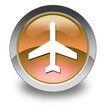"Orange Glossy Pictogram ""Airport / Airplane"""
