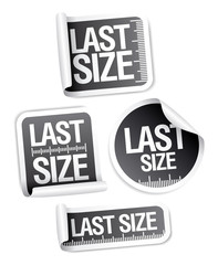 Last size clothing labels