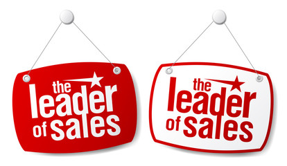 The leader of sales signs.