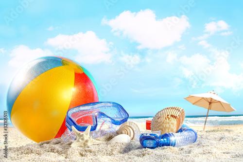 Leinwandbild Motiv Fun day at the beach
