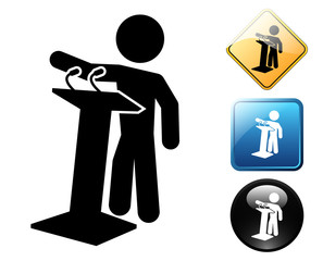 Political pictogram and signs