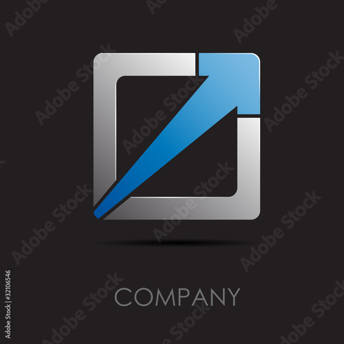 Logo abstract geometric form 3 # Vector