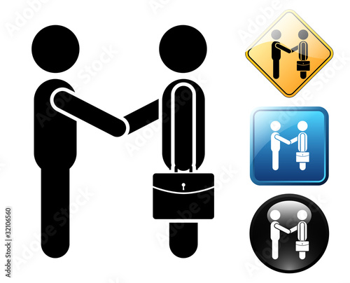 Businessman pictogram and signs