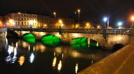 Grattan Bridge over the River Liffey in Dublin, Ireland