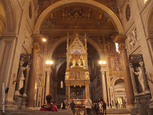 Staande foto Athene Altar of Church of St John Lateran in Rome Italy