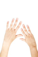 Female hands without little finger from birth. Real photo #1
