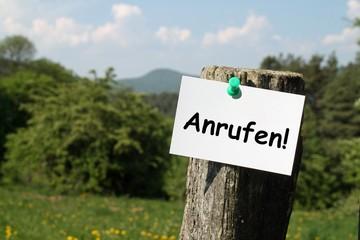 Zettel auf dem Land ANRUFEN!