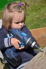 bébé et construction