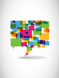 Abstract colorful speech bubble_3