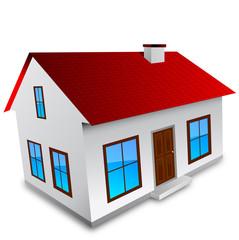 casa, 3d, immobiliare