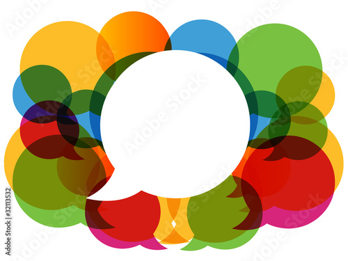 colorful dialog bubbles vector.