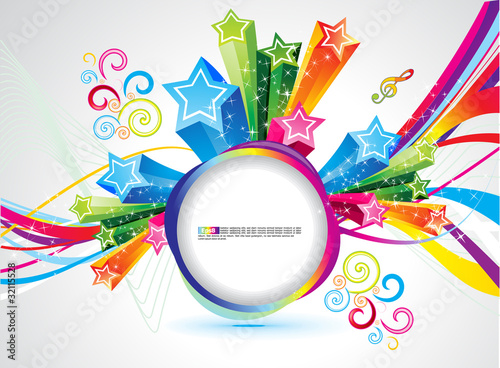 abstract colorful rainbow magical explode